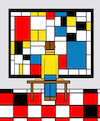 Cartoon: Mondrian Museum... (small) by berk-olgun tagged mondrian,museum