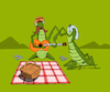 Cartoon: Picnic... (small) by berk-olgun tagged picnic