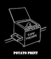 Cartoon: Potato Print... (small) by berk-olgun tagged potato,print