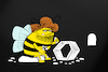 Cartoon: Stone Age Bee... (small) by berk-olgun tagged stone,age,bee