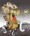 Cartoon: The Ghost Town.. (small) by berk-olgun tagged ghost,town