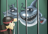 Cartoon: The Shark Family... (small) by berk-olgun tagged the,shark,family