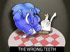 Cartoon: The Wrong Teeth... (small) by berk-olgun tagged the,wrong,teeth