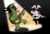 Cartoon: Turtle Slash... (small) by berk-olgun tagged turtle,slash