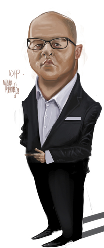 Cartoon: Adrian Ursu (medium) by Marian Avramescu tagged mmm