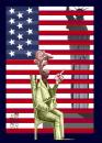 Cartoon: american dream 2 (small) by Marian Avramescu tagged mav