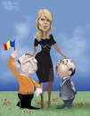 Cartoon: first governess of the country (small) by Marian Avramescu tagged mmmmmmmmm
