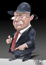 Cartoon: ION ILIESCU (small) by Marian Avramescu tagged by,mav