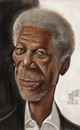 Cartoon: Morgan Freeman (small) by Marian Avramescu tagged mmmmmmmmmmmmmmmmmmm