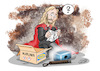 Cartoon: Marvel Thor und Mjölnir (small) by STERO tagged marvel,fandome,mjölnir,thor,ikea
