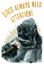 Cartoon: girls always need attention (small) by jenapaul tagged girls,men,kingkong,humor,movies,love