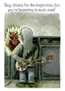 Cartoon: heavy metal (small) by jenapaul tagged heavy,metal,rock,devil,musician