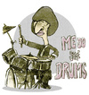 Cartoon: ringo  - when he was younger (small) by jenapaul tagged beatles,ringo,starr,humor,drummer,drums