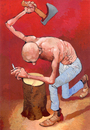 Cartoon: Desperado (small) by Wiejacki tagged health,smoking,tobacco,restrictions,self,control