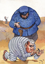 Cartoon: no title (small) by Wiejacki tagged prison,punishment,jail,gefangnis,steinbruch,quarry