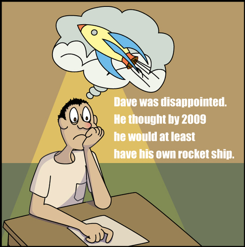 Cartoon: Where is my rocket ship? (medium) by red tagged dave,rocket