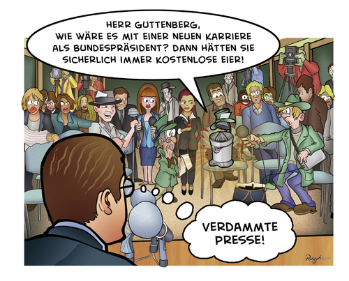 Cartoon: Die Presse 09 (medium) by Die Presse tagged pressekonferenz