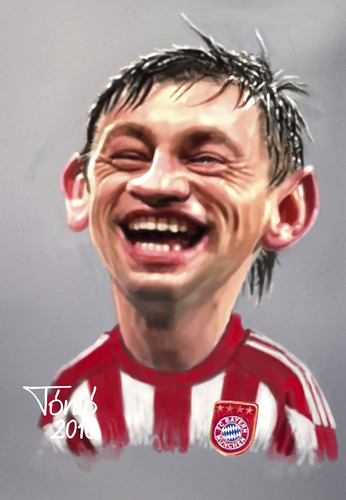 Cartoon: Ivica Olic FC Bayern (medium) by Tonio tagged croatisch,croatia,münchen,football,stürmer,striker