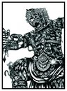 Cartoon: FIGHT THE GIANT (small) by agung_ft tagged wayang