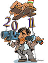 Cartoon: New year (small) by zsoldos tagged media