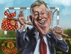 Cartoon: Sir Alex Fergusson (small) by zsoldos tagged soccer,football,manchester,sport