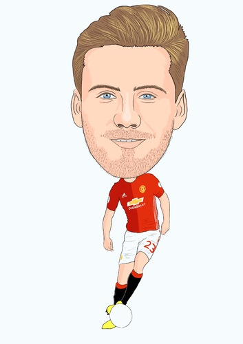 Cartoon: Luke Shaw Man Utd (medium) by Vandersart tagged manchester,united,cartoons,caricatures