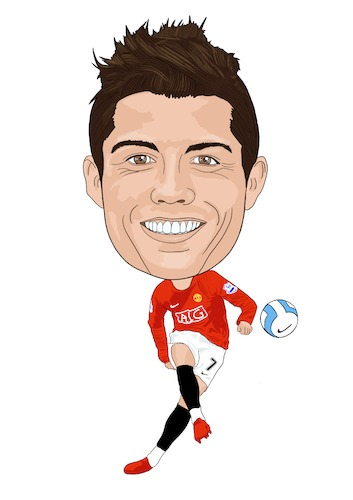 Cartoon: Ronaldo Manchester United (medium) by Vandersart tagged manchester,united,cartoons,caricatures