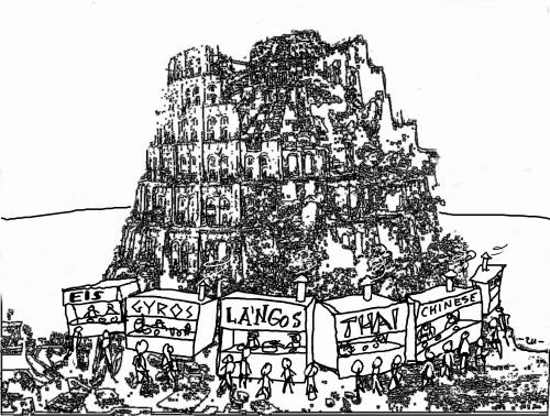Cartoon: Babel (medium) by zu tagged babel,globalisation