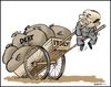 Cartoon: Berlusconi (small) by jeander tagged berlusconi,italy,depth,crises