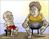 Cartoon: German election (small) by jeander tagged peer,steinbrück,spd,angela,merkel,csu,die,wahl,2013election