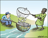 Cartoon: Resources (small) by jeander tagged resources fishing rich poor food starvatin