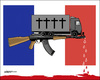 Cartoon: Terrorattack in Nice (small) by jeander tagged terror,attack,terrorism,nice,france,truck