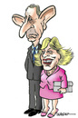 Cartoon: The Prince and the Duchess (small) by jeander tagged royalties,charles,prince,wales,camilla,duchess,cornwall