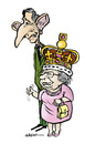 Cartoon: The Queen and the Prince (small) by jeander tagged elisabeth,ii,charles,royal,gb,uk