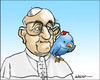 Cartoon: Twitterpope (small) by jeander tagged pope,francis,twitter