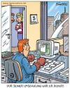 Cartoon: umschulung (small) by pentrick tagged büro office umschulung retraining man mann boxer