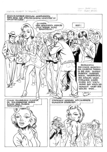 Cartoon: Marilyn Monroe (medium) by devrimdemiral tagged monroe,marilyn