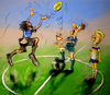 Cartoon: Coin Toss (small) by haruni tagged 2012,euro,greece,vs,germany,soccer,football