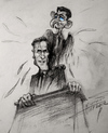 Cartoon: Mitt Romney and Paul Ryan (small) by haruni tagged mitt,romney,paul,ryan,election,2012,usa,presidents