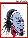 Cartoon: Ronaldinho (small) by Enzo Maneglia Man tagged ronaldinho,giocatore,calcio