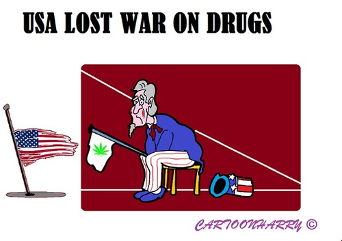 Cartoon: Another USA War (medium) by cartoonharry tagged usa,drugs,war,lost
