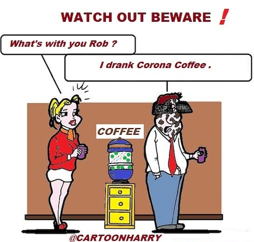 Cartoon: Be Careful (medium) by cartoonharry tagged careful,coffee,cartoonharry