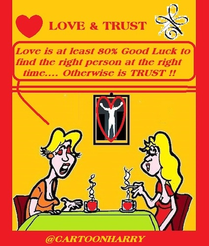 Cartoon: Love and Trust (medium) by cartoonharry tagged trust,love,cartoonharry