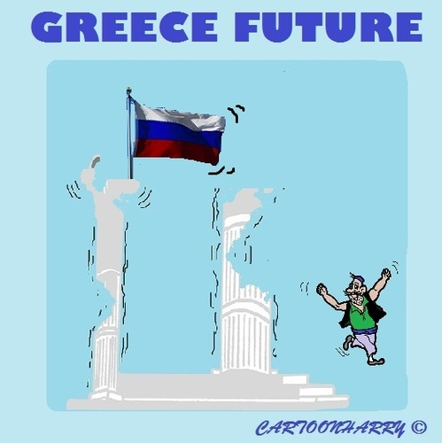 Cartoon: Now and Then2 (medium) by cartoonharry tagged greece,europe,referendum,no,yes,russia