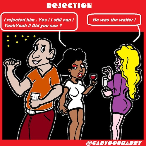 Cartoon: Rejection (medium) by cartoonharry tagged rejection,waiter