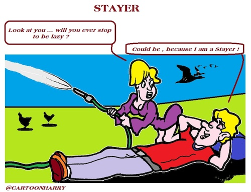 Cartoon: Stayer (medium) by cartoonharry tagged stayer,cartoonharry
