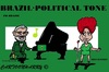 Cartoon: Brasil (small) by cartoonharry tagged dilmarousseff llula accordeon clarinet vips famous politicians cartoons cartoonists cartoonharry dutch toonpool
