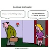 Cartoon: Corona Distance (small) by cartoonharry tagged cartoonharry