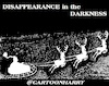 Cartoon: Disappearance (small) by cartoonharry tagged disappearance,xmas,santa,darkness,cartoonharry