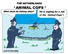 Cartoon: Dutch Animal Cops (small) by cartoonharry tagged holland,animalcops,fishing,police,phenomenon,cartoon,cartoonist,cartoonharry,dutych,toonpool